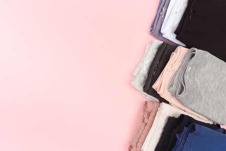 Female panties over pink  background 版權商用圖片