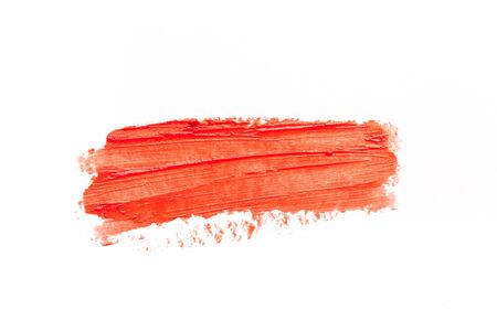 Lipstick smear smudge swatch isolated on white background Stock Photo