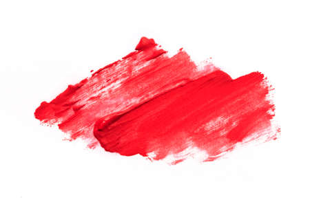 Lipstick smear smudge swatch isolated on white background