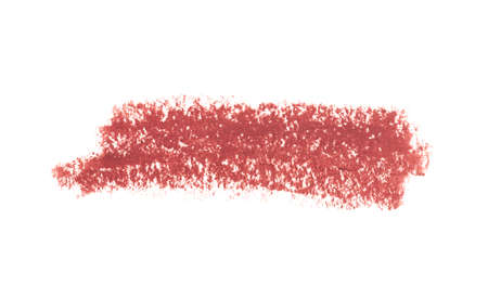 Lipstick Liner Pencil Squiggles isolated on white background