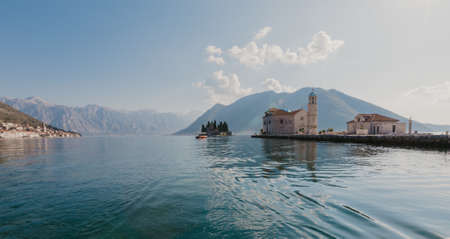 Perast town in the Bay of Kotor, Montenegro