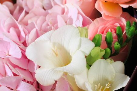 Bouquet of mixed spring flowers  close-up view Banque d'images