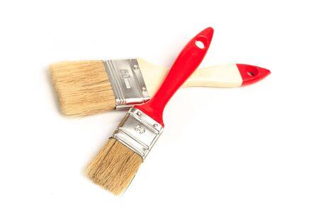 set of paint brushes  isolated on a white background 版權商用圖片