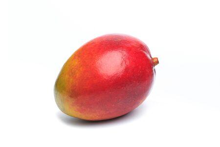 Juicy dessert mango isolated on white background 版權商用圖片