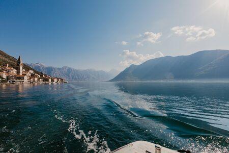 Perast town in the Bay of Kotor, Montenegro