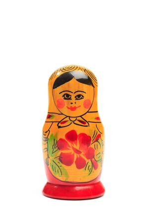 Matryoshka isolated on a white background - Image