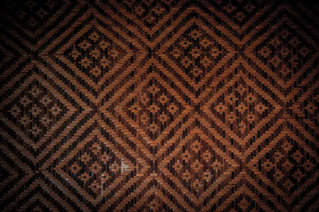 latticework: handmade bamboo natural asian background