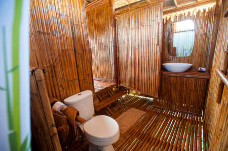 shower cubicle: bathroom bamboo with masonry shower cubicle and bathtub