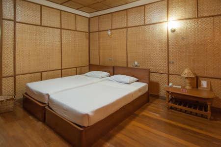 honeymoon suite: bamboo resort bedroom Editorial