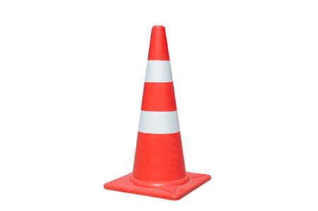 highway 3: Traffic cone isolated on white background