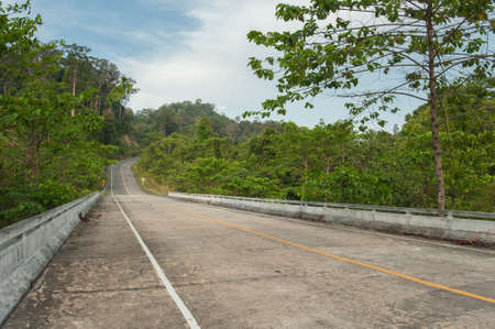speedway park: country road with sunny sky,Thailand Stock Photo