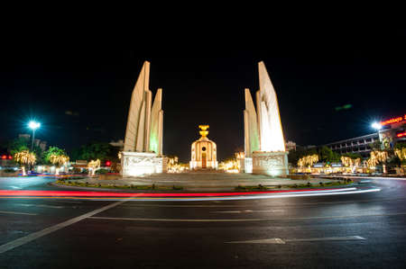 democracy Monument: Democracy monument at night , Bangkok - Thailand. Editorial