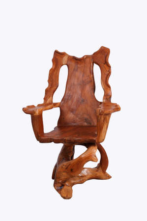 antique chair: Antique wooden chair with  isolated on white background.