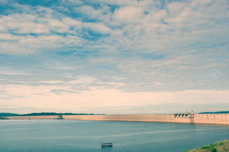 Dam is for the construction of a large dam water,from Khun dan prakan chon dam the famous landmark of Nakhon Nayok -Thailand