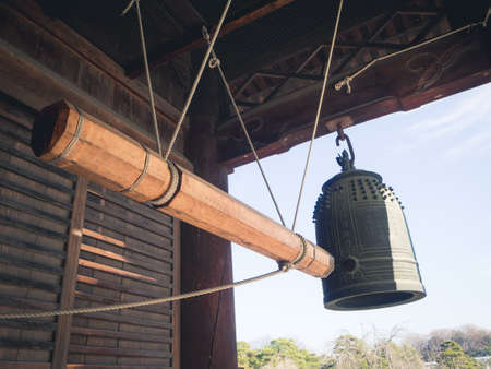 Large Bell Tower of Temple at japan Banco de Imagens