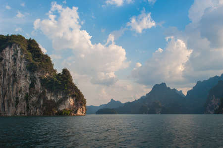 Beautiful mountains and river natural attractions in  Khao Sok National Park, Surat Thani Province,Southern Thailand.