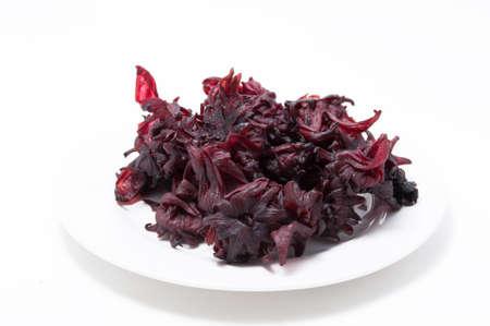 red rosella fruit isolated on white background