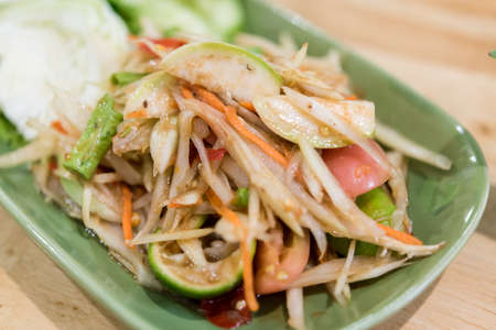Somtum : Delicious and tradition Thai foods (Vegetarian Food,No meat)