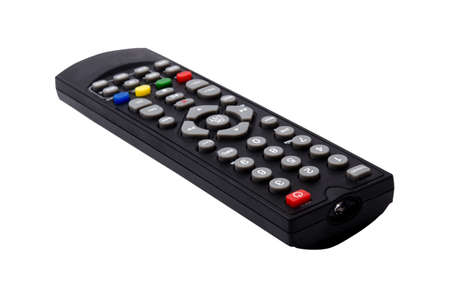 TV remote control isolated on white background. with clipping path Stock Photo