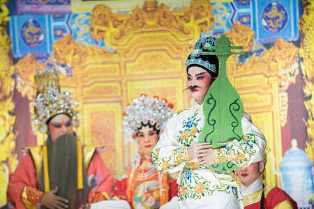 Chinese opera : chinese traditional opera actor with theatrical costume