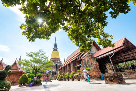 Thailand 's Temple - Old pagoda at Wat Yai Chai Mongkhon, Ayutthaya Historical Park, Thailand
