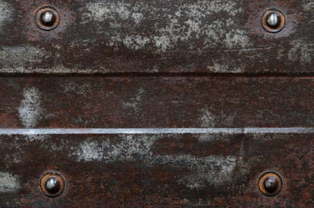 Abstract background, rusty metal plate with bolt and structure photo