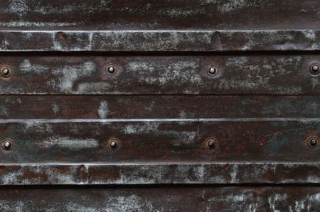 metal structure: Abstract background, rusty metal plate with bolt and structure Stock Photo