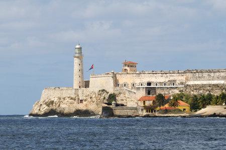 tres: Tres Reyes del Morro Castle at the harbor entrance in Havana, Cuba.