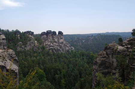 saxony: View from bastei range in the Saxony Switzerland.
