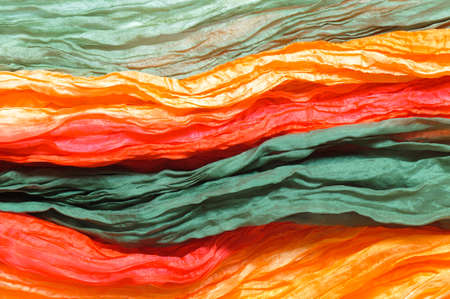 satiny: Colorful silk as abstract background.