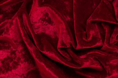 抽象的な背景として赤のベルベット。