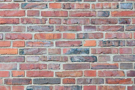 textured effect: Background with textured effect from a red brick wall. Stock Photo