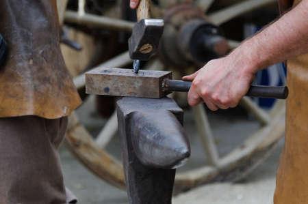 metalware: Old crafts, blacksmith at work.