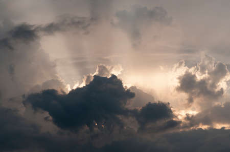 dramatic sky: Dramatic Sky with Cloudscape. Stock Photo