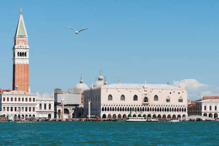 the campanile: Cityscape of Venice with Doges Palace and Campanile.