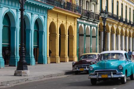 havana cuba: Old american car in Old Havana, Cuba.