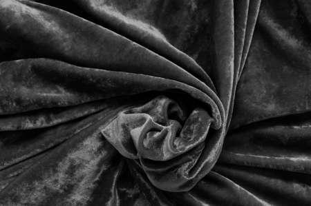 black velvet: Black velvet as an abstract background.