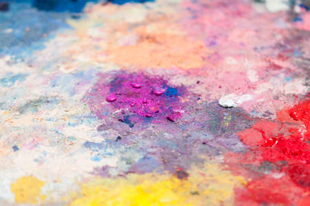 Abstract background of vibrant colors on a palette.