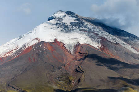 Cotopaxi stratovolcano in the Andes of Ecuador, South America. Stock Photo