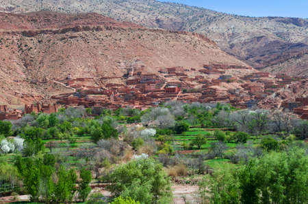 Kasbahs in Dades valley in the south of Morocco, Africa.