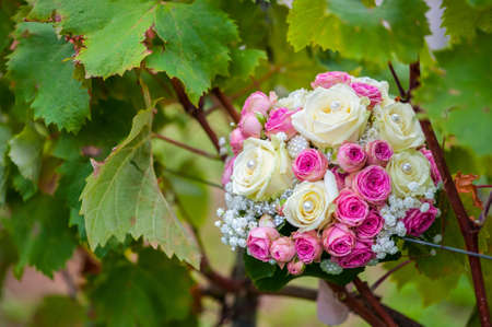 wedding bouquet on Grapevine