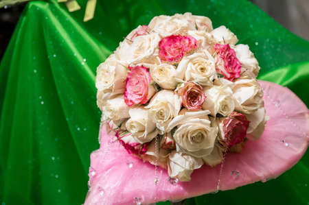 wedding bouquet rose Stock Photo