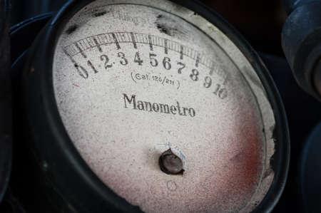 Old locomotive pressure gauge