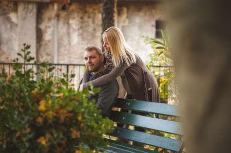 couple in love, autumn