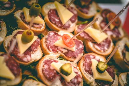 close-up of Slovenian salami