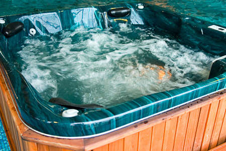 Bath from a jacuzzi with raging water