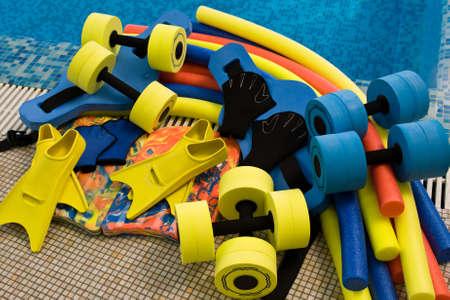 equipment for aqua aerobics photo