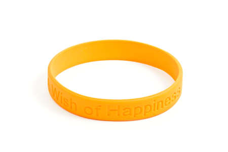 silicone: silicone wristband, bracelet on the white background
