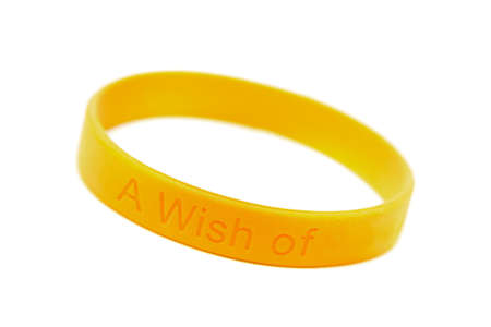 silicone wristband, bracelet on the white background