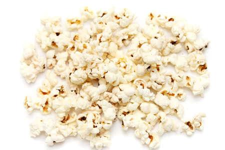 shot of Popped Corn isolated on white (popcorn) Stock Photo - 3873058